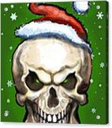 Evil Christmas Skull Acrylic Print
