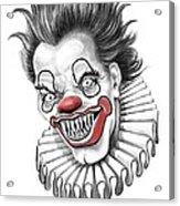 Evil Clown  Acrylic Print