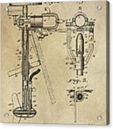 Evinrude Outboard Marine Engine Patent  1910 Acrylic Print