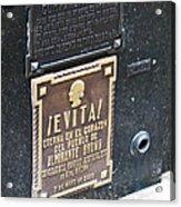 Evita Burial Vault Acrylic Print