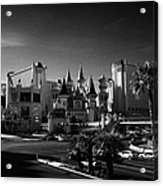excalibur hotel and casino on the Las Vegas boulevard strip Nevada USA Acrylic Print