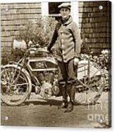 Excalibur Motorcycle California Circa 1915 Acrylic Print