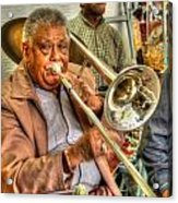 Excelsior Band Horn Player Acrylic Print