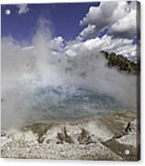 Excelsior Geyser Crater In Yellowstone National Park Acrylic Print