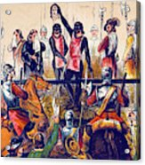 Execution Of Charles I, 1649 Acrylic Print