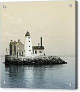 Execution Rocks Lighthouse New York  Acrylic Print by Bill Cannon