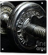 Exercise  Vintage Chrome Weights Acrylic Print