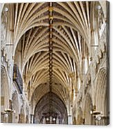 Exeter Cathedral And Organ Acrylic Print