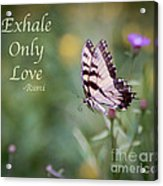 Exhale Only Love Acrylic Print
