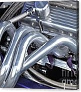 Exhaust Manifold Hot Rod Engine Bay Acrylic Print by Allen Beatty