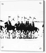 Exhibition Platoon Of The 11th U.s. Cavalry On Del Monte Beach Monterey California 1935 Acrylic Print
