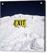Exit Acrylic Print by Fiona Kennard