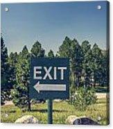 Exit Sign Acrylic Print