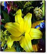 Exotic Yellow Acrylic Print
