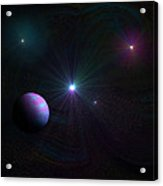 Expanding Universe Acrylic Print by Ricky Haug