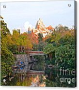 Expedition Everest At Sunset Acrylic Print