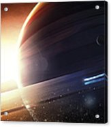 Expedition To A Saturn-like Planet Acrylic Print