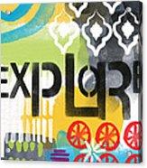 Explore- Contemporary Abstract Art Acrylic Print