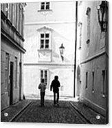 Exploring Prague Acrylic Print