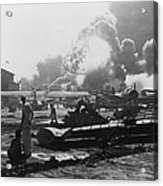 Explosion At Pearl Harbor Seen Acrylic Print