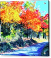 Explosion Of Color - Blue Ridge Mountains II Acrylic Print