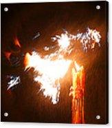 Explosive Candlelight Acrylic Print