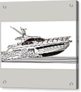Express Sport Yacht Acrylic Print by Jack Pumphrey