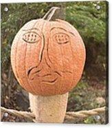 Expressive Pumpkin Acrylic Print
