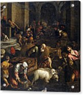 Expulsion Of Merchants From The Temple Acrylic Print