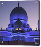 Exterior View Of Sheikh Zayed Grand Acrylic Print