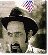 Extra With Flag In Hat The Great White Hope Set Globe Arizona 1969-2008 Acrylic Print