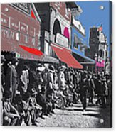 Extras The Great White Hope Set Recreation Reno Nevada July 4th 1910  Acrylic Print