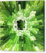 Extrusion Abstract Lime Green Acrylic Print