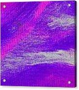 Exuberant Pink Blue Acrylic Print