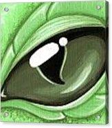 Eye Of The Mint Green Dragon Hatchling Acrylic Print
