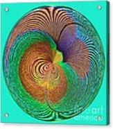 Eye Of The Peacock Orb Acrylic Print