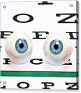 Eyeballs On Chart Acrylic Print