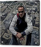 Eyes Down From The 103rd Floor Just Sitting Around Acrylic Print