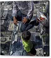 Eyes Down From The 103rd Floor Little Dude With No Fear Acrylic Print