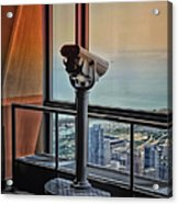 Eyes Down From The 103rd Floor Telescope Looking South Acrylic Print