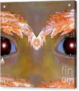 Eyes Of A Child Feathered Acrylic Print