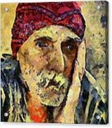 Eyes Of Sadness Acrylic Print