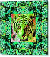 Eyes Of The Bengal Tiger Abstract Window 20130205m180 Acrylic Print by Wingsdomain Art and Photography