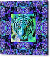 Eyes Of The Bengal Tiger Abstract Window 20130205m80 Acrylic Print