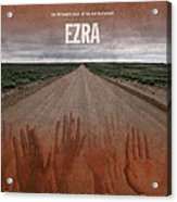 Ezra Books Of The Bible Series Old Testament Minimal Poster Art Number 15 Acrylic Print