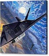 F-117 Nighthawk - Team Stealth Acrylic Print