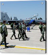 F-15 Pilots Of The 48th Fighter Wing Acrylic Print