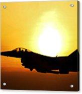F-16 Fighting Falcon Flying Over Korea Acrylic Print