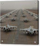 F-16 Fighting Falcons, Kunsan Air Base Acrylic Print
