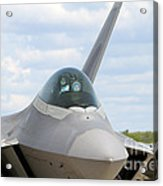 F-22 Raptor Lockheed Martin Air Force Acrylic Print